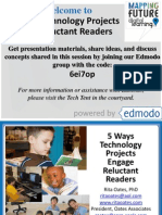 5 Ways Technology Projects Engage Reluctant Readers at Palm Beach Schools Ed Tech conference 2-19-13