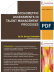 Use of Psychometric Assessments in HRM