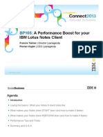 A Performance Boost for Your IBM Lotus Notes Client