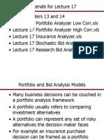 Overhead - 17 Portfolio and Bid Analysis