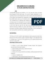Zero Defect in P91-Report-2005