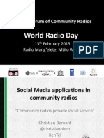 Social Media Applications in Community Radios_KenTel