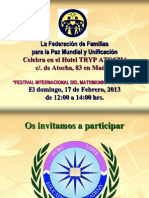 Ceremonia de Bendición de Santo Matrimonio 17.02.2013.