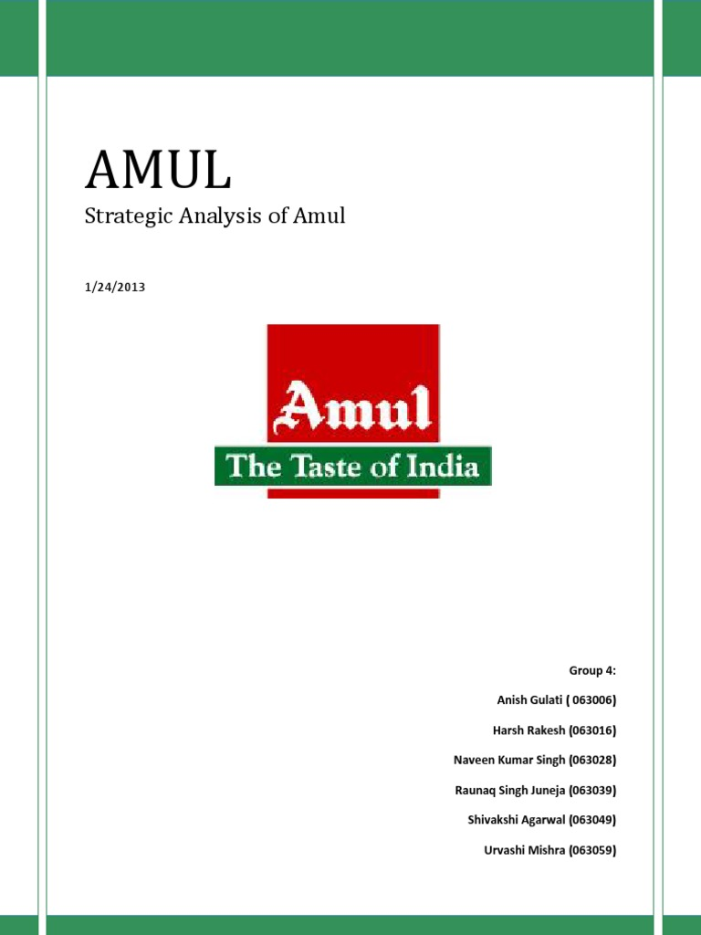swot analysis of amul dairy