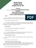 Artigos 312 a 327 do Código Penal