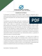 Comunicado APES ante Veto de reformas a LAIP