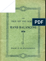 The True Art and Science of Hand Balancing by Prof. Paulinetti.