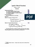 11. Integrals of Bessel Functions