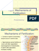 Mechanesimof Fertilization