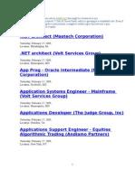 Daily Jobs Update- Jobs Bridge