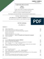 Computer Applications [ICSE] Sample Paper 4