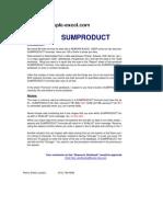 Excel Tutorial Sumproduct