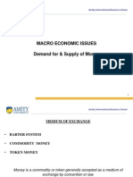 Demand for and Supply of Money