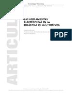 Las herramientas elect en enseñ literatura