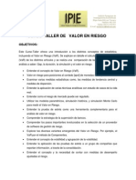 Curso- Taller Valor en Riesgo (VaR)