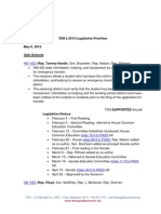 2013 Legislative Priorities