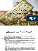 Gold Price Movements - an analysis