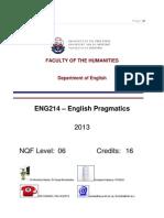 Study guide pragmatics