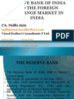 Organisational Structure and Role of RBI in Foreign Exchange Markets