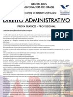 VIII Exame Administrativo - Segunda Fase