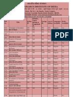 Price List III syllabus books
