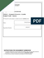 MB0042 Managerial Economics Assignment Set 2