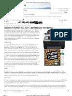 Nissan Frontier XE 2011, Poderosa y Moderna _ MUNDO 52