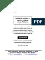 External Seam Welders Manual
