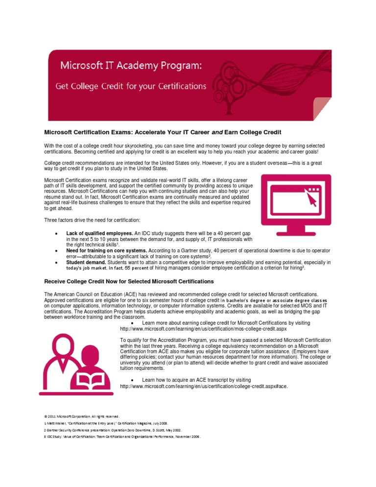 Student Accreditation Flyer Professional Certification Course Credit