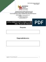Guia Orientativa Plan de Negocio 2012
