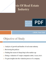 Analysis of Real Estate Industry