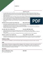 Amy Plitt's resume, February 2013