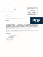 Carta de renuncia de Gabriel Prado a EMAPE