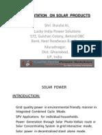 Presentation Solar Products-LuckyIndia