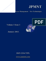 JPMNT Volume 1 Issue 1 2013.