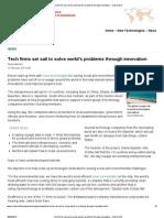 Tech firms set sail to solve world's problems through innovation