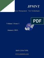 JPMNT Volume 1 Issue 1 2013.