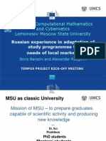Russian experience in adaptation of study programmes to needs of local markets