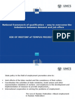 National framework of qualification – way to overcome the imbalance between demand and job offers