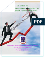 An ARTICLE on Expectation Gap in Auditing Profession