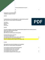 Questions SAP FI