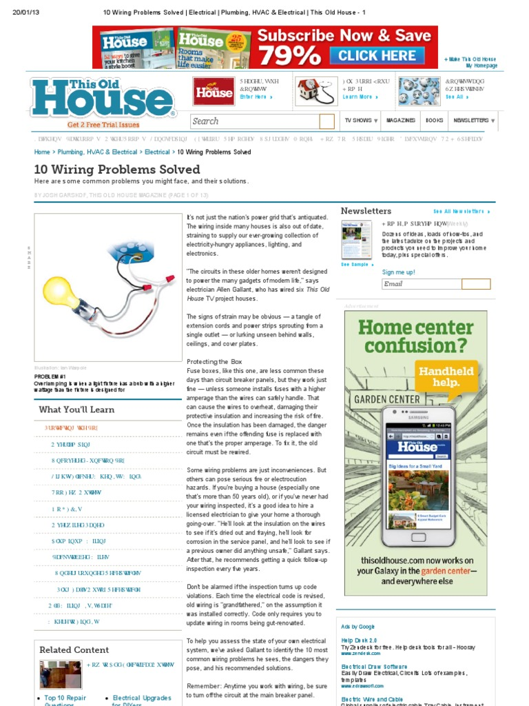 Old House 10 Wiring Problems Solved Database Library Electrical Simple Diagram Home
