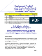 Is Full Employment Feasible?Analysis of the Jobs Creation Rate for Malaysia for the period (1999-2012) and comparison with Singapore, Australia, and United Kingdom