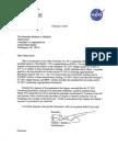 NASA sequestration letter
