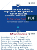 Adjustment of training programs in management to market demands («Information management» profile)