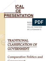 Traditional Classification of Government