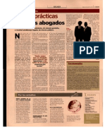 El Cronista - Buenas prácticas entre los abogados (abr 2011)