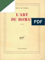 Kundera - L'Art Du Roman