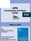APA Formatting Style Guide OWL