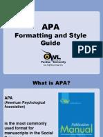 APA Formatting Style Guide OWL